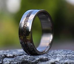 Prstene - SKLADOM - Titánový prsteň s Bronzom - 13585378_