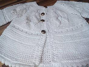 Detské oblečenie - Svetrík pre novorodenca - 13584189_