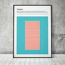 Grafika - VOLEJBAL, minimalistický print - 13585184_