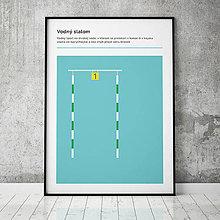 Grafika - VODNÝ SLALOM, minimalistický print - 13585266_