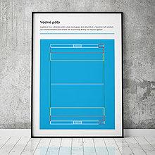 Grafika - VODNÉ PÓLO, minimalistický print - 13585282_