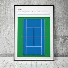 Grafika - TENIS (USO), minimalistický print - 13585317_