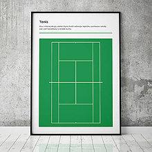 Grafika - TENIS (W), minimalistický print - 13585764_