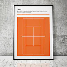 Grafika - TENIS (RG), minimalistický print - 13585770_