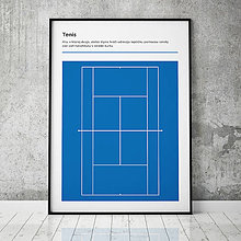 Grafika - TENIS (AO), minimalistický print - 13585772_