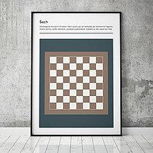 Grafika - ŠACH, minimalistický print - 13585781_