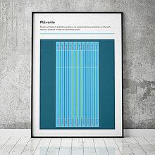 Grafika - PLÁVANIE, minimalistický print - 13585803_