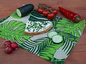 Úžitkový textil - Voskobrúsok 40cm x 28cm tropické listy - 13586276_