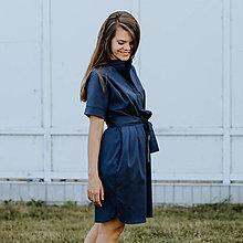 Šaty - Šaty Dark Blue Shirts - 13586541_