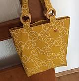 Nákupné tašky - taška žlto - horčicová - 13588558_