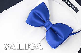 Doplnky - Pánsky kráľovsky modrý motýlik - 13586977_