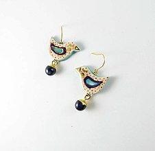 Náušnice - Tana šperky - keramika/zlato - 13586890_