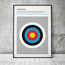 Grafika - LUKOSTREĽBA, minimalistický print - 13588775_