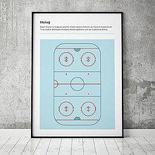 Grafika - HOKEJ, minimalistický print - 13588785_