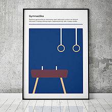 Grafika - GYMNASTIKA, minimalistický print - 13588792_
