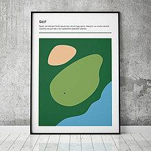 Grafika - GOLF, minimalistický print - 13588797_