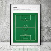 Grafika - FUTBAL, minimalistický print - 13588823_