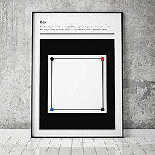 Grafika - BOX, minimalistický print - 13588839_