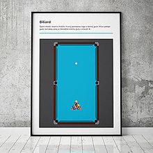 Grafika - BILIARD, minimalistický print - 13588848_