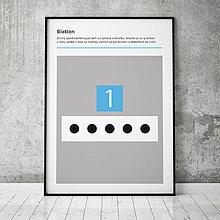 Grafika - BIATLON, minimalistický print - 13588864_