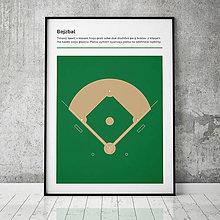 Grafika - BEJZBAL, minimalistický print - 13588870_