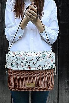 Kabelky - Prútená kabelka na ruky N°12 - 13589119_