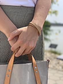Náramky - Double leather bracelet - 13588748_