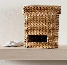 Krabičky - SKLADOM - Zásobník na sáčky - orech svetlý - 13586453_