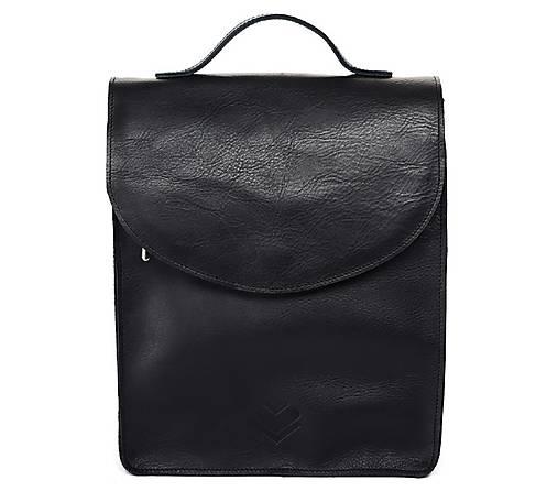 Batohy - Kožený batoh M C1 - černý  - 13587359_
