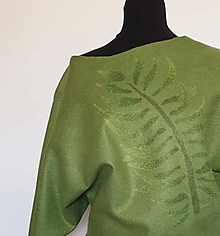 Topy - Zelený top s palmovým listom - 13586330_