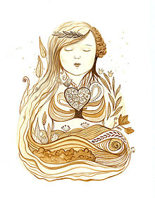 Obrazy - Matka Zem (Pachamama) - 13587963_