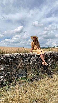 Šaty - Dámske ľanové šaty - 13588374_
