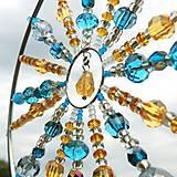 Dekorácie - Lapač paprsků Slunce - Mandala s Citrínem - 13589533_