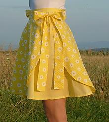 """Sukne - Sukienky """"Vyskladaj si ma"""" žltozelenkavé - 13590498_"""