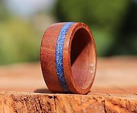 Prstene - SKLADOM - Slivkový prsteň s Lapis Lazuli - 13591900_