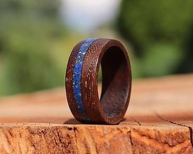 Prstene - SKLADOM - Orechový prsteň s Lapis Lazuli - 13591901_