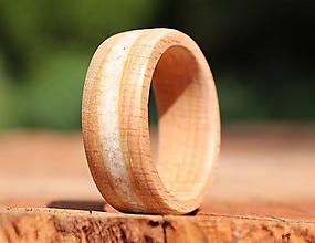 Prstene - SKLADOM - Bukový prsteň s kremeňom - 13591935_