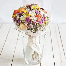 Dekorácie - Prírodná kytica sušených kvetov ... pestrá ... - 13590382_