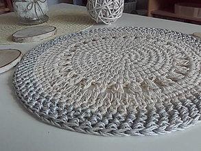 Úžitkový textil - Prestieranie prírodné so svetlosedym lemom - 13590296_