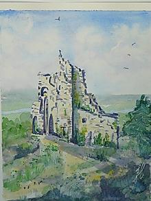 Obrazy - Čajkine hniezdo 2, akv. , 23x30 - 13590080_