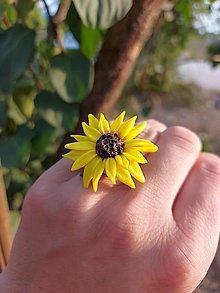 Prstene - Slnečnicový prstienok - 13591981_