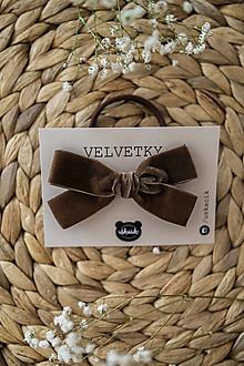 Ozdoby do vlasov - Gumičky Velvetky (Oriešok) - 13590729_
