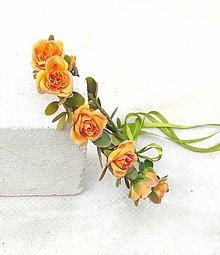 Ozdoby do vlasov - Venček z ruží - 13590576_