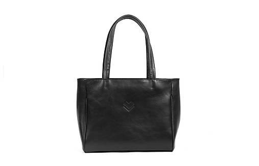Veľké tašky - Kožená taška BIG SHOPPER C1 - černá - 13591938_