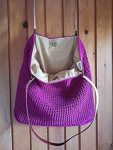 Veľké tašky - cyklámenová - 13591593_