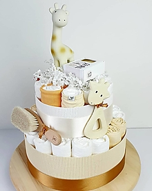 Detské doplnky - Plienková torta -  žirafa - 13591903_
