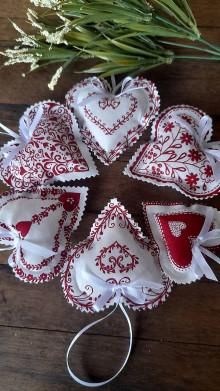 Darčeky pre svadobčanov - Voňavé  srdiečka ivory - červené -10 cm - 13590155_
