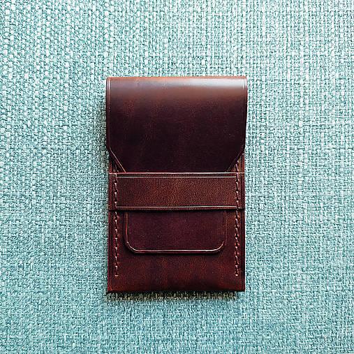 Peňaženky - Kožená mini peňaženka / puzdro na karty - 13591484_