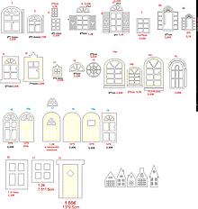 Dekorácie - ...okná a dvere na domčeky - 13592437_