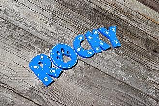 Tabuľky - písmenká pre psíka Rocky - 13592775_